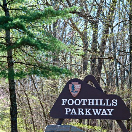 Picture of sign that says Foothills Parkway.